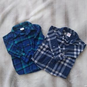 💥 2 baby boys plaid flannel shirts💥